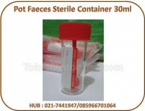 Pot Faeces Sterile Container 30ml