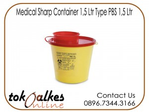 Medical Sharp Container 1,5 Ltr Type PBS 1,5 Ltr
