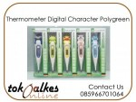 Thermometer Digital Character Polygreen