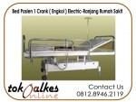 Bed Pasien 1 Crank Electric|Ranjang pasien 1 Engkol Electric