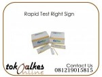 Rapid Test Right Sign