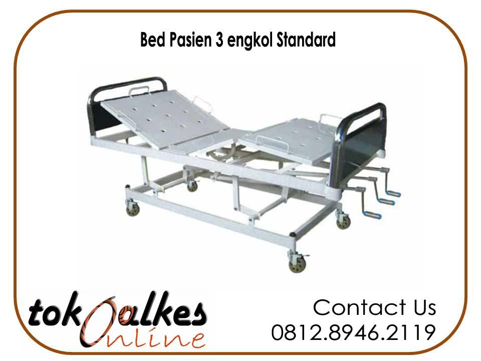 Toko alkes jual Jual Bed Pasien 3 Engkol Standard Harga Murah jual tempat tidur rumah sakit lengkap murah standard rumah sakit