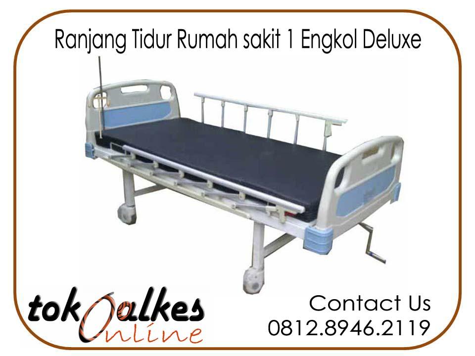 Jual Ranjang Pasien 1 Engkol ( Crank ) ABS Harga Murah Standard Rumah Sakit